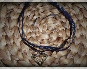 Liberty Choker and openwork diamond Ribbon