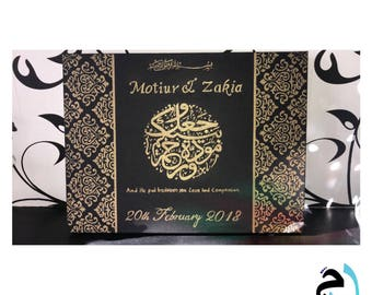 Islamic damask wedding canvas