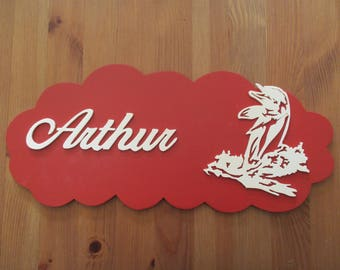 red door with personalized Dolphin plate