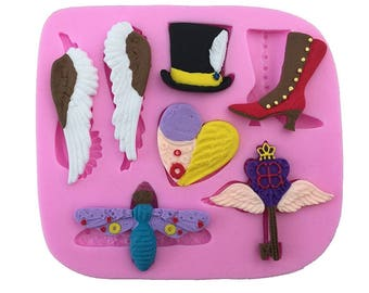 silicone  3d molds magic,witches and animals