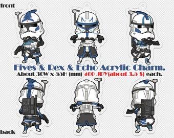 Clone Trooper Acrylic Charm