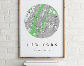 New York Map, New York Map Print, New York Print, Minimalist Map, Home Map, City Map Print, Modern Map, Modern Map Print,Minimalist City Map
