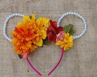 Pearl Fall Flower Ears