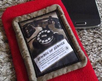 Velvet vintage Bell 1937 advertising cellphone case