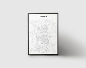 Tours Map Print