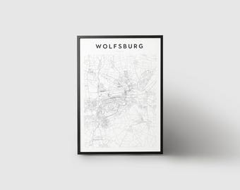 Wolfsburg Map Print