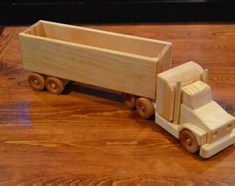 Handmade Wooden Tractor Trailer