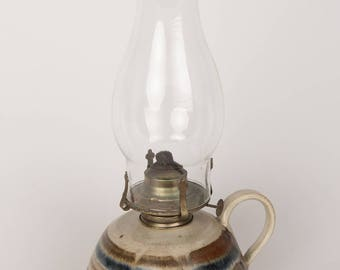 Hand Made Pottery Oil Lamp
