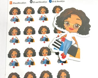 Retail Therapy  Sticker Sheet-Aubrey, Renae or Lynn