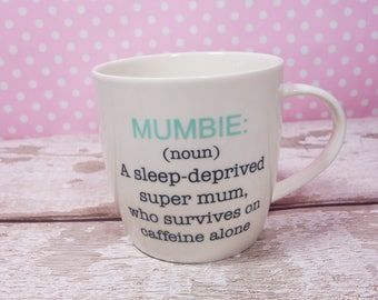 Mumbie Zombie Pregnancy Announcement New Baby New Mum Mother To Be Coffee Tea Baby Shower Mothers Day Birthday Gift For Her Baby Boy Girl