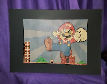 Mario mounted Poster