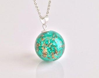 Spun by Rosa Rueda Lampwork Murano glass bead pendant