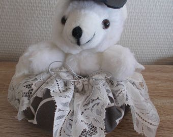 "Lavender scented ball ""White bear"" plush"