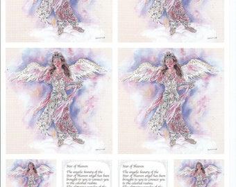 paper cut card 3D star of heaven