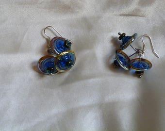 Blue glass Stud Earrings