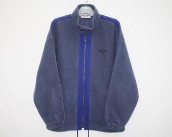 Cerruti 1881 By Nino Cerruti Blue Polyester Full Zip Sweater Size L