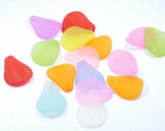 LT36 - Set of 15 beads multicolor lucites