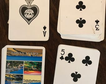 Used gran canaria playing cards deck