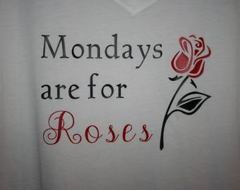 Mondays are for roses on white