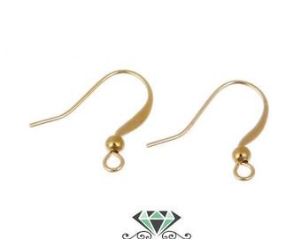 x 10 Golden hooks earing