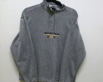 Vintage!!! Grand Slam Munsingwear Pullover Spellout Small Logo Embroidered Half Zipper