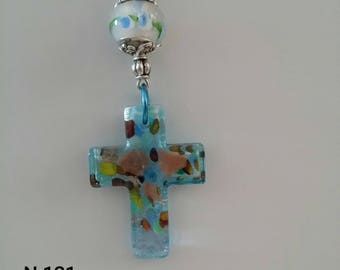 Glass Cross Necklaces