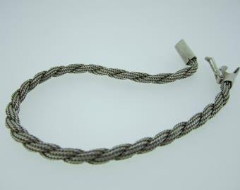 Vintage Sterling silver rope bracelet