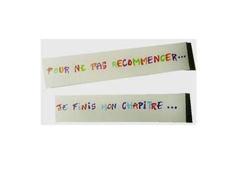 Bookmarks, colorful, funny quote, set of two