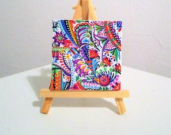 Tableau abstrait etsy - Decoration chambre psychedelique ...
