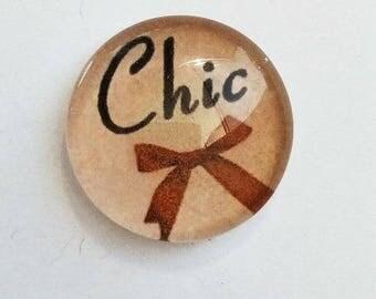 """chic feminine"" cabochon, 25mm"