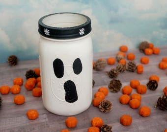 Halloween Ghost Jar, Halloween Decor, Fall Decor