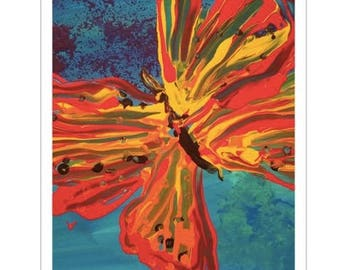 "11x17"" art print of ""Butterfly Red"" by The Artist Emma"