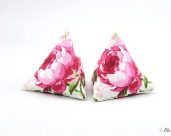 Pockets - No. 15 berlingots mini-bouillottes pink Peony on an ecru background