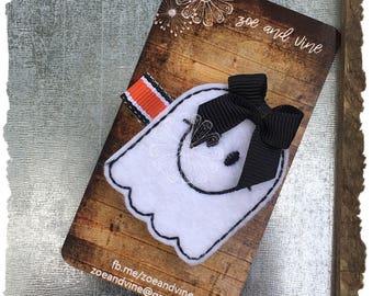 Felt Clippie - Ghost - Halloween - READY TO SHIP
