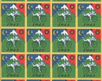 Albert Hofmann Bike Ride 1943 20 Panel Blotter Art