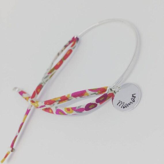MOM gift idea - Liberty Wiltshire custom engraving half Bangle Bracelet