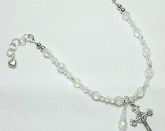October Opal Rosary Bracelet Divine Mercy Chaplet