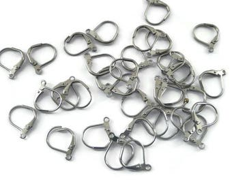 10 pcs Stainless steel leverback - earring findings - lever back ear wire
