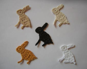 Five bunnies for Easter-made crochet