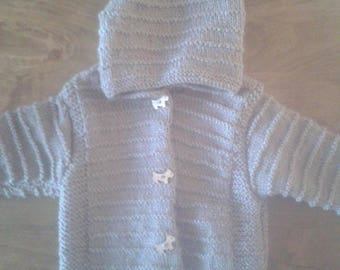 Hooded jacket size 3 to 6 months