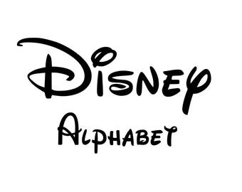 Disney Font SVG, Disney Alphabet, Disney Svg, Disney Cut Files, Svg Fonts, Studio Files, Disney Font Cut Files, Vector Cut Files, Silhouette