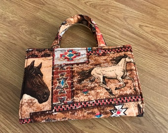 Horse Trailer Tote - Toy Carrier - Horse Carrier