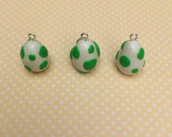 Nintendo Yoshi Egg Polymer Clay Charms