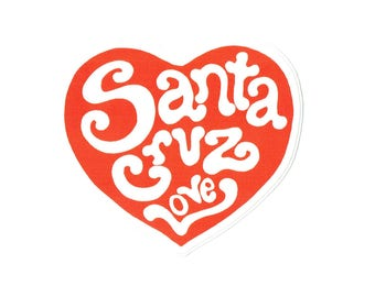 Santa Cruz Love sticker