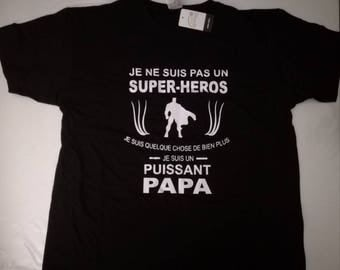 T-shirt man hero/Daddy