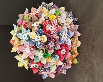 Example 27 multicolored paper origami flowers