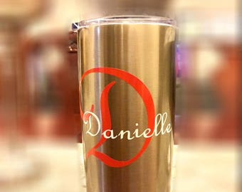 20 ounce Stainless Steel Tumbler Personalized