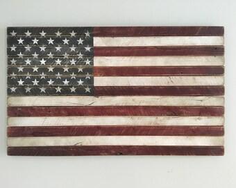 American Flag, American Wood Flag, Wood Flag, Rustic Wood Flag, Rustic American Flag, Rustic American Flag Wall Art, Rustic Americana Decor