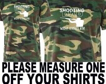 shooting dad shooting grandad camo t shirt