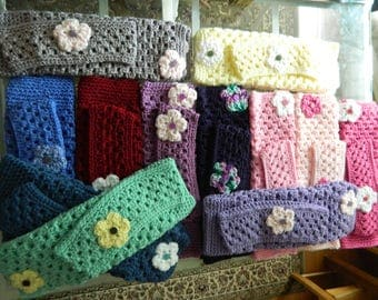 Crochet Leg Warms with matching headband